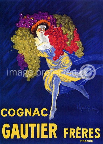 Cognac Gautier Cappiello Vintage Liquor Ad Poster