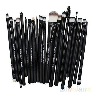 Lots 20Pcs Makeup Kits Powder Foundation Eyeshadow Eyeliner Lip Cosmetic Brushes