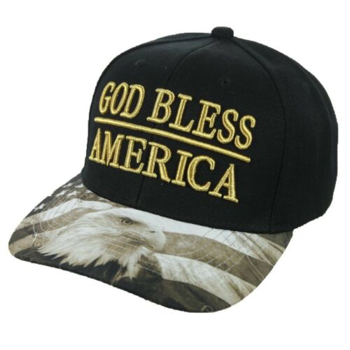 Baseball Cap GOD BLESS AMERICA Hat Eagle USA Flag Snapback Hats Fashion Caps