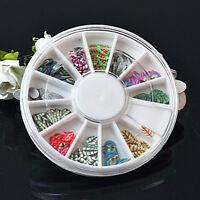 120pcs 3D Mix Fimo Nail Art Nail Tips Polymer Clay Slices Decor Wheel 6.5cm JX