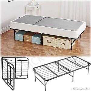 Twin XL Size Metal Bed Frame Folding Platform Heavy Mattress