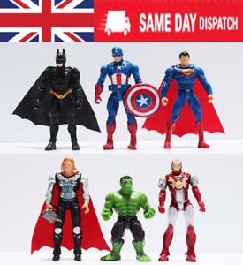 6PCS Marvel DC Super Héros des Avengers Hulk Action Figure Jouet cake topper