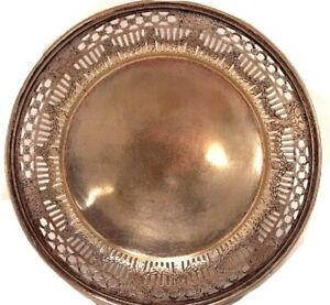1930-039-s-Middletown-Silver-Company-Small-Round-Tray-Silver-Plate-Dish-Platter-873