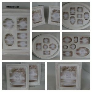 Distressed Off White Cream Collage Picture Photo Frames 4 X 6 5 X 7