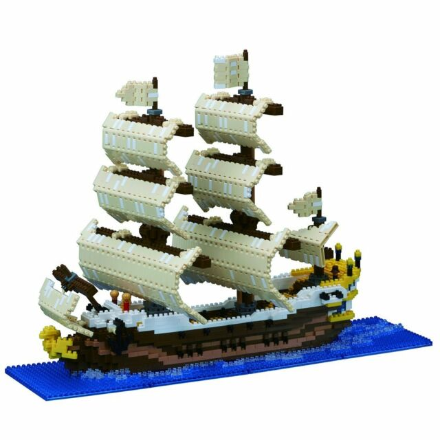 nanoblock - Sailing Ship Deluxe - nano blocks micro-size blocks NB-030