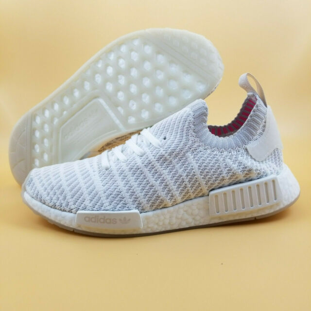 newest collection 11ec7 53891 Mens adidas NMD R1 STLT Primeknit Triple White Grey Pink CQ2390 US 9