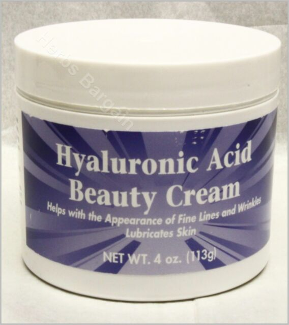 Puritan's Pride Hyaluronic Acid Beauty Cream - 4 oz New Free Shipping Exp:01/21