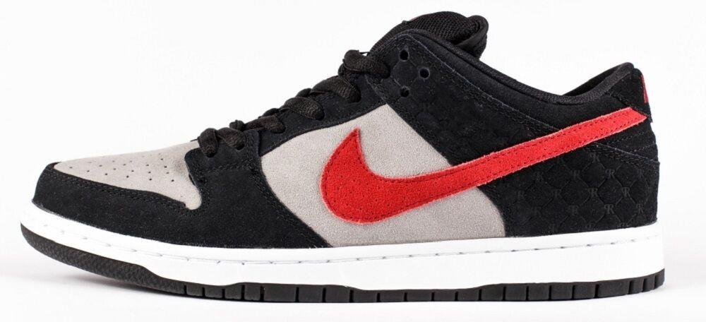 Nike DUNK LOW PREMIUM SB QS Black Varsity Red Grey 504750-060 (541) Men's Shoes