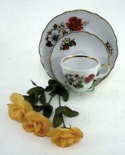 Wunsiedel ( R )  Bavaria Porzellan Sammeltasse Gedeck mit edlem Rosendekor