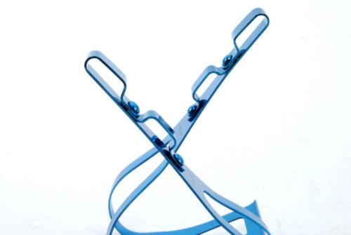 ROAD BIKE STEEL TOE CLIPS SIZE LARGE BLUE