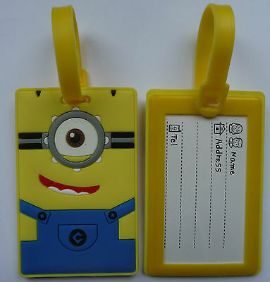 Luggage Labels Tags Suitcase Frozen Despicable Me Minion Holiday 12 designs NEW
