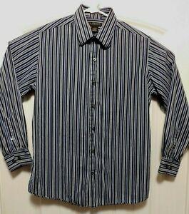 J-Ferrar-Blue-Striped-Mens-Long-Sleeve-Cotton-Dress-Shirt-Sz-L-16-16-1-2-A3016