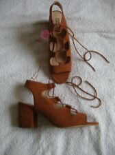NEW!!! Womens Sandals TAN Block- shoes   ATMOSPHERE 7/ 40-41
