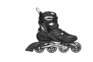 Rollerblade Zetrablade Adult Mens Fitness Inline Skates Black Silver Size 7 11