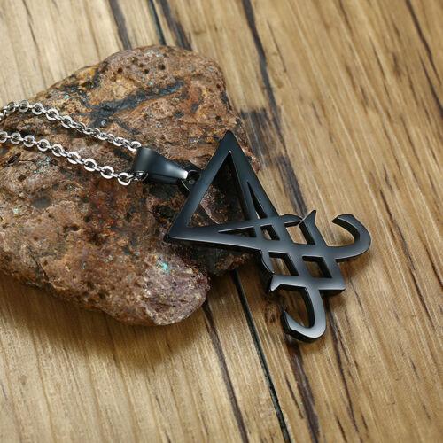 Talisman de Lucifer Pendentif Hommes Femmes collier satanique symbole Amulette religieuse cadeau