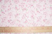 Breast Cancer Butterflies Cotton Quilt Fabric Bty Pink Ribbon Signature Coll