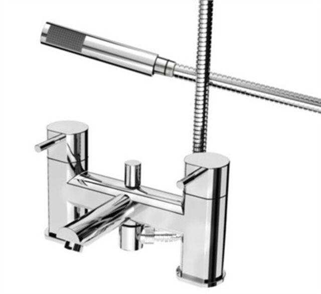 Bristan Fame Bath Shower Mixer with Handset Chrome Modern Style