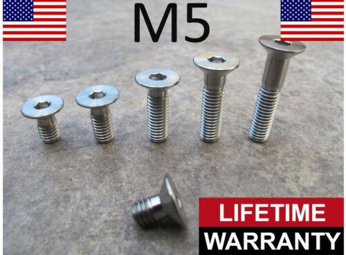 M5 Titanium Countersunk Flat Hex Head Screw Bolt 8mm 10mm 12mm 16mm 20mm 30mm