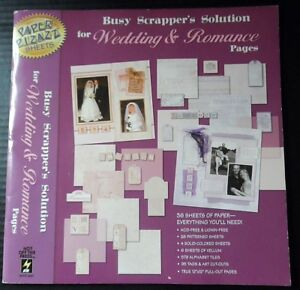 Paper-Pizazz-Scrapbooking-Pad-12x12-Sheets-Decorative-Wedding-Romance-36-Ct