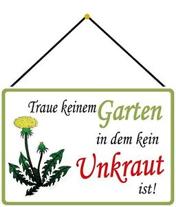 Garden-Without-Weed-Tin-Sign-Shield-with-Cord-7-7-8x11-13-16in-FA1014-K