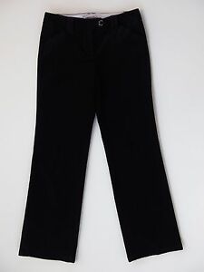 4318e1059f6f Ann Taylor Margo Mid Rise Straight Black Corduroy Chino Dress Pants ...