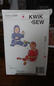 Oop-Kwik-Sew-2295-babies-stretch-knit-pants-shirt-booties-sz-8-18-mths-NEW