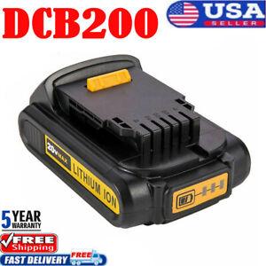 For-DEWALT-DCB203-20V-20-Volt-Max-Compact-XR-2-0-Ah-Lithium-Ion-DCB207-Battery