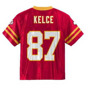 buy popular ca6b5 704fb Details about (2019-2020) Kansas City Chiefs TRAVIS KELCE nfl Jersey YOUTH  KIDS BOYS (s-small)