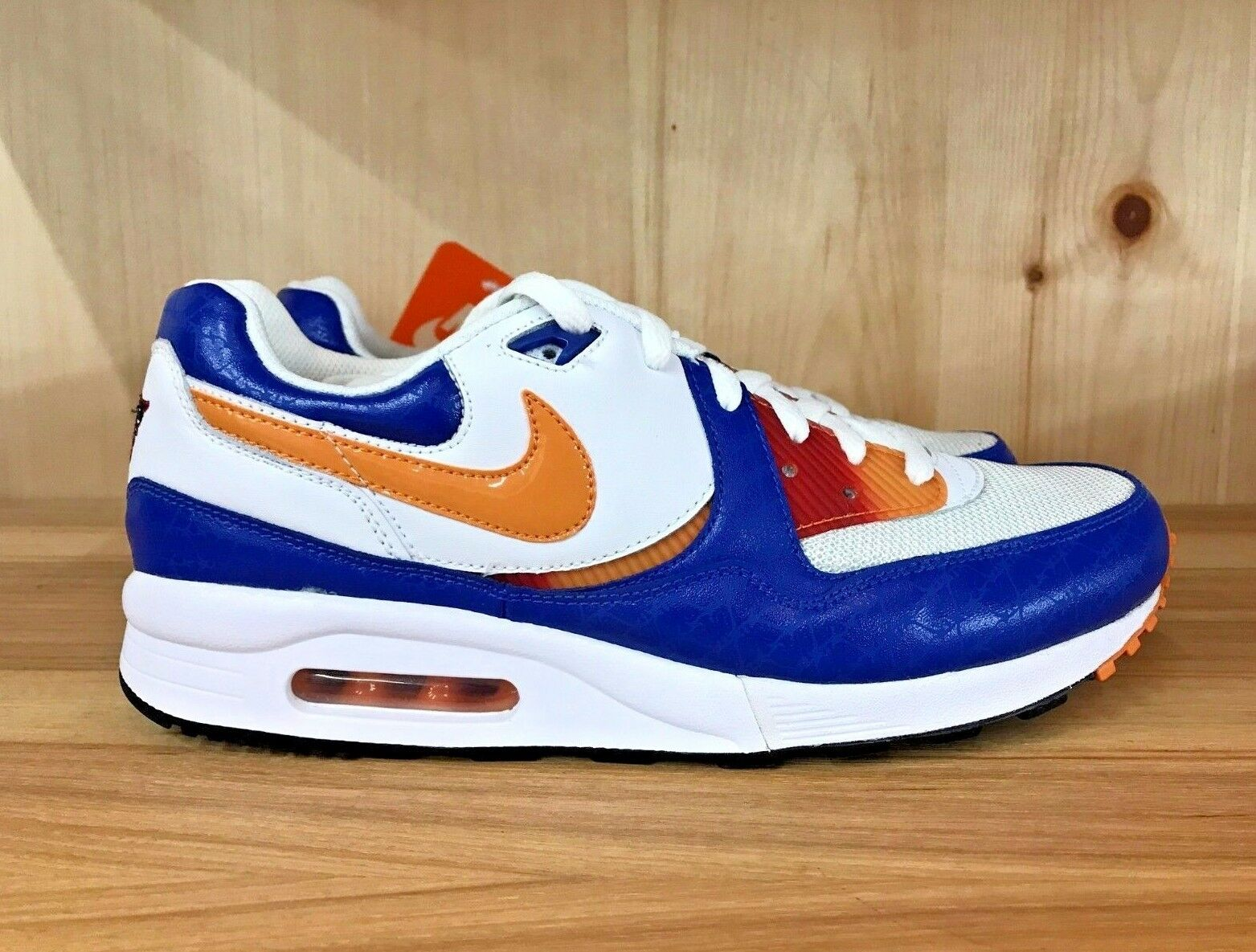 NIKE AIR MAX LIGHT WHITE CARred VARSITY ROYAL BLACK RETRO MEN SZ 6-9  315827-181