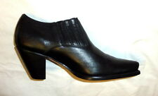 Charlie 1 Horse I6003 Lucchese Size 5B Womens Leather Western Boot BLACK CALF