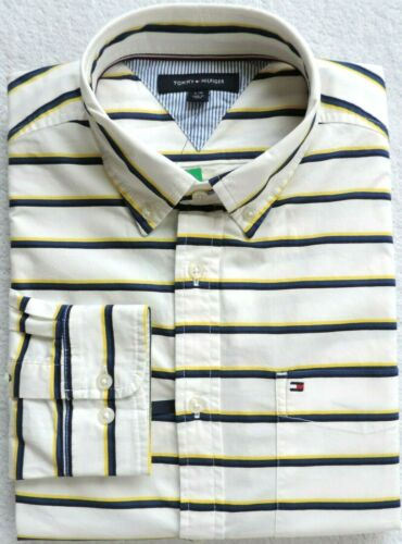 Tommy Hilfiger Men/'s Striped Button Down Shirt