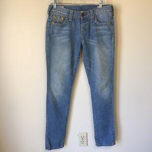 8b5d59868b2d6e Image is loading True-Religion-Brianna-Core-Boyfriend-Jeans-Button-Fly-