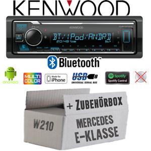 Kenwood Autoradio für Mercedes E-Klasse W210 Bluetooth USB iPhone Android Spotif