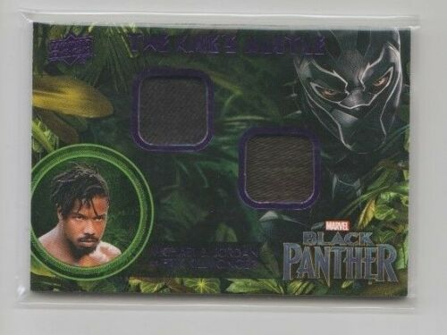 Black Panther Costume Trading Card #KMKI Michael B.Jordan as Erik
