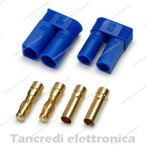 Femmina Connettore EC5 Batterie LiPo LiFe Litio Droni Banana Plug Maschio