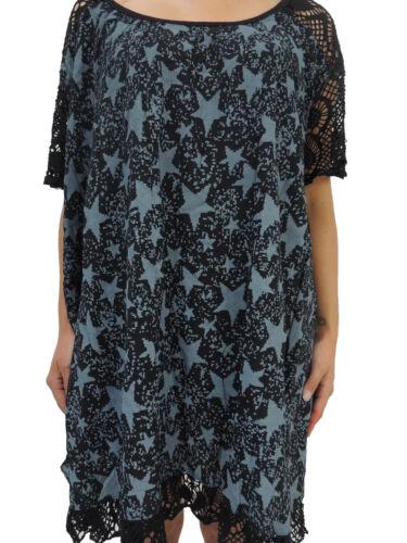 Damen Blusen Shirts Größe 46 48 50 52 54 T Shirt Übergröße Blusen Tunika Sterne