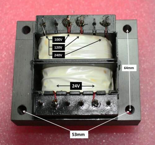24 VAC@1.25 A Output Transformer 100-240VAC in Lot of 3
