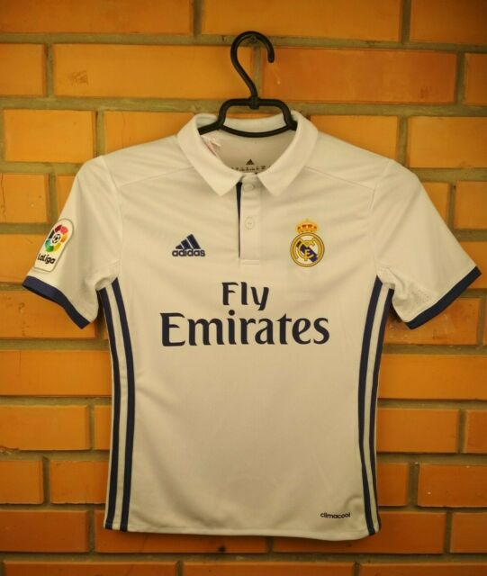 Real Madrid Jersey 2016 2017 Home Youth 9-10 Shirt AI5189 Soccer Adidas Trikot