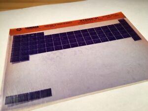 Yamaha-XT600E-1991-3tb-xte-600-XT-Mikro-Stecker-Teile-Liste-Katalog-Mikrofiche
