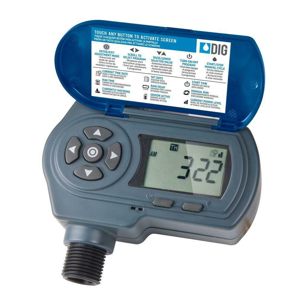 Dig EVO100 - Solar Powered Hose End Timer - Drip Irrigation Controller Watering