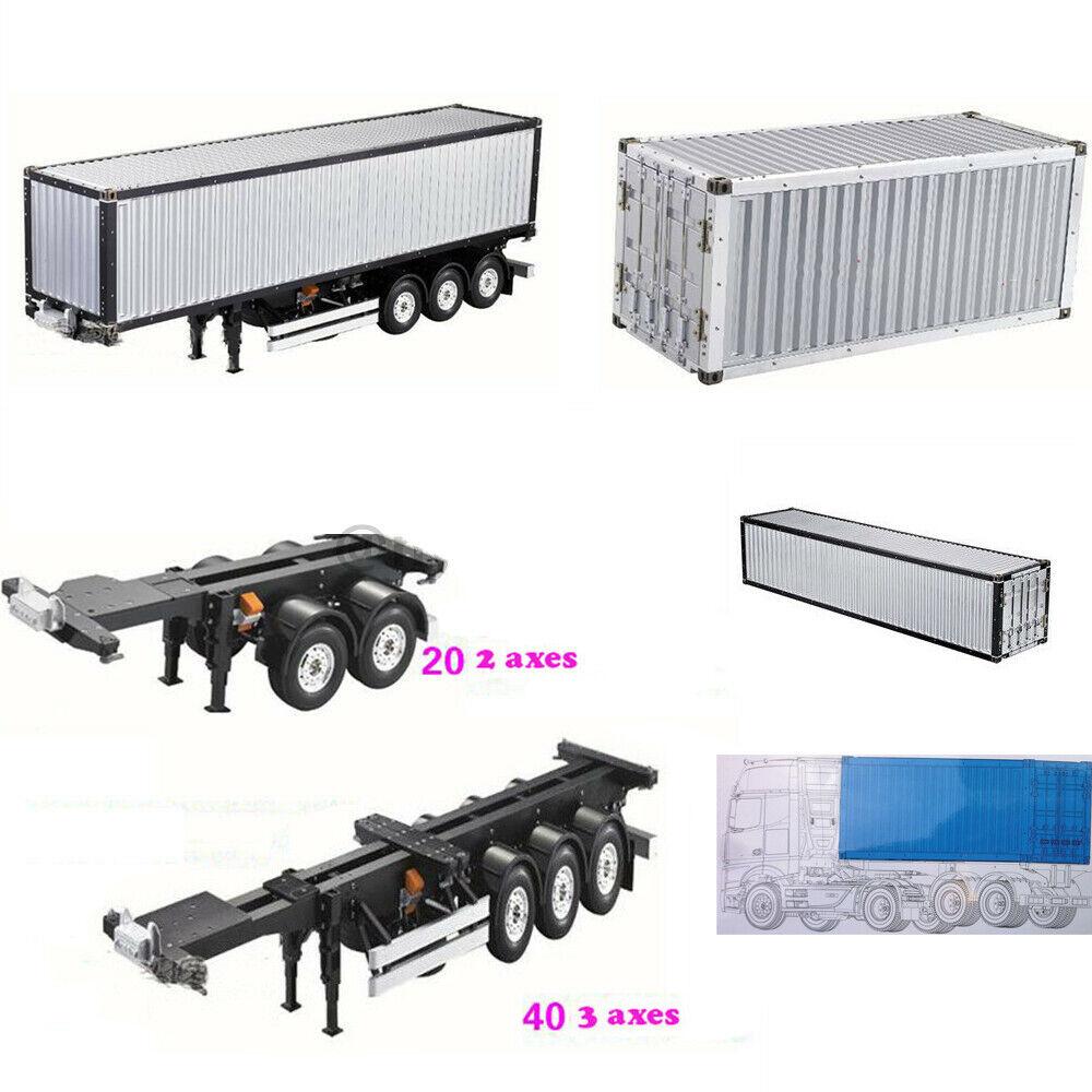For RC Tamiya  Scania Actros Trailer modello 1 14 20 40FT Aluminium Frame Container  migliore qualità