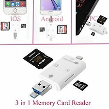 i-Flash Device HD TF&SD Memory Card Reader USB 8 Pin Memory Stick for iphone,