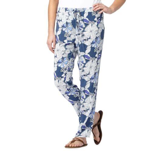 New Mantaray Womens  Blue Sketchy Floral Trousers From Debenhams 8 10