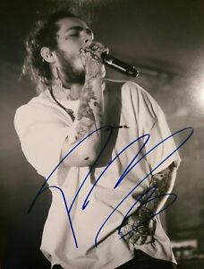 Details about Post Malone STONEY BEER BONGS Music Signed Autographed 11X14  Photo PROOF COA