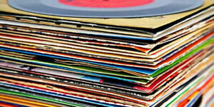 """VINYL RECORDS 7"""" GOOD COLLECTION X5 VARIOUS IN PLAIN SLEEVES 70's 80's OLD USED"""