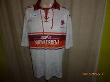 """AS Rom Original asics Auswärts Trikot 1994/95 """"UOVA TIRRENA"""" Gr.L- XL"""