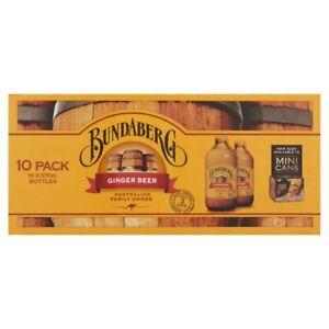 Bundaberg Ginger Beer Multipack Bottles 375mL 10pk