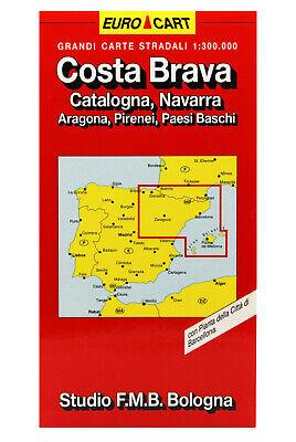 Cartina Geografica Spagna Costa Brava.Costa Brava Catalogna Navarra Cartina Stradale Carta Mappa Studio F M B Ebay