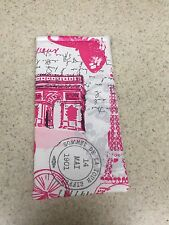 Eyeglass / Sunglass Soft Fabric Case - All Things Paris - Shades of Grey & Pink