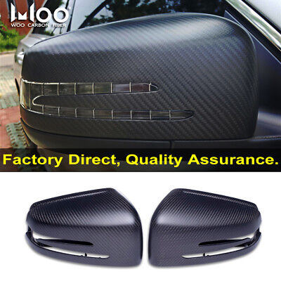 For Mercedes Benz W204 W176 W212 A45 C63 AMG Carbon Fiber Mirror Cover Housing